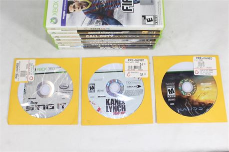 Assorted Xbox 360 Video Games