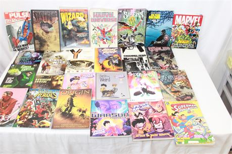 24 Graphic Novels Lots Marvel DC Dark Horse
