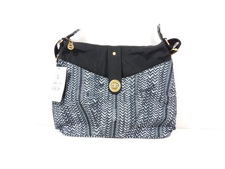 "NWT! baggallini Blue & Black Shoulder Bag 14"" X 11"" X 2"""