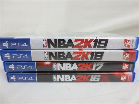 4 PlayStation 4 Games: NBA 2K 16-19