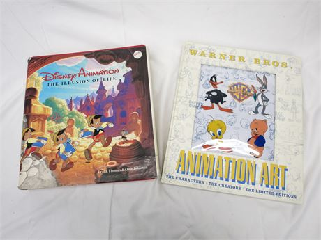 Warner Bros Animation Art & The Illusion of Life: Disney Animation Hardcovers