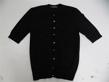 Dolce & Gabbana Cashmere Button Front Shirt, Size:44