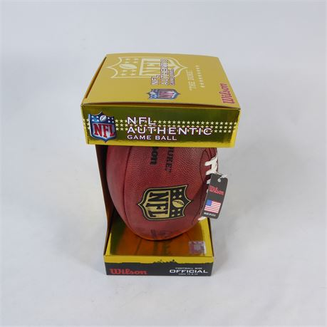 "Wilson F1100 ""The Duke"" Official NFL Authentic Game Football Game Ball 