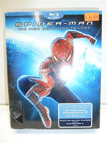 "Spider-Man ""The High Definition Trilogy"" 3 Movies On Blu-Ray High-Def NIB"