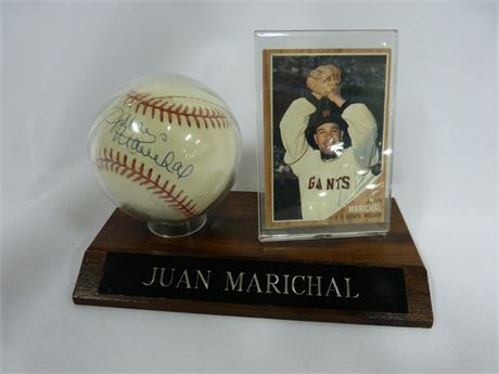 Giants Pitcher Juan Marichal Signed Baseball