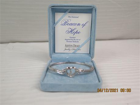 "Ashton-Drake Thomas Kinkade 925 Sterling ""The Diamond Beacon of Hope"" Bracelet"