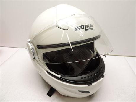 Nolan N100E Helmet White & Black Medium