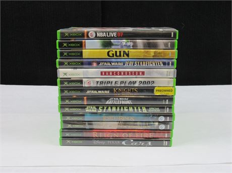 Xbox Video Game Lot of 13 #MM485 (650)