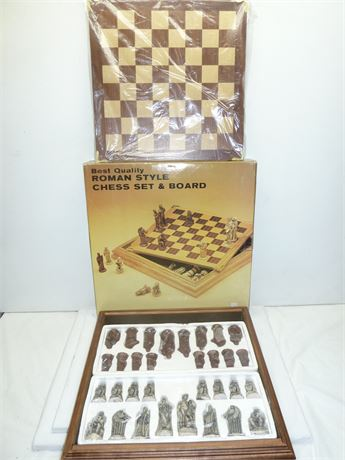 Best Quality Roman Style Chest Board Set, In Open Box