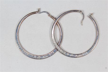 Tiffany & Co. Vintage 925 Sterling Silver Elsa Peretti Hoop Earrings 11.57 Grams