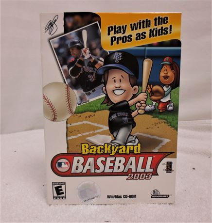 Backyard Baseball 2003 for PC Unopened