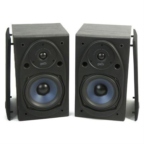 Pair Polk Audio RT15i Power Port Bookshelf Speakers, Black