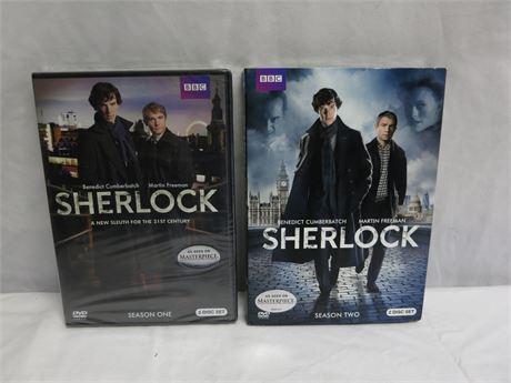 BBC SHERLOCK Season's One & Two DVD Sets Brand New