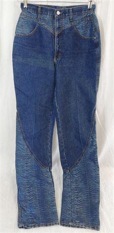Vintage Roper Jeanswear Women's High Waist Zebra Accent Size 11 (579)