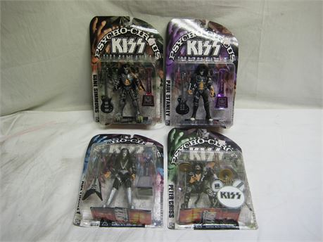 KISS Psycho-Circus Tour Edition Action Figures Brand New