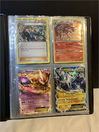 Pokemon Cards (10) Cards + Book/Sleeves