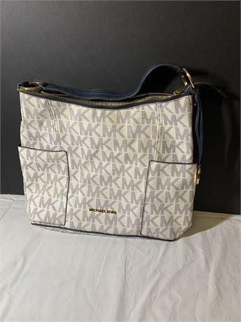 Michael Kors White/Navy Bag