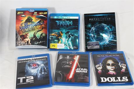 Lot of 20 Action/Sci-Fi Blu-Rays, Ray HarryHausen Collection, Future World