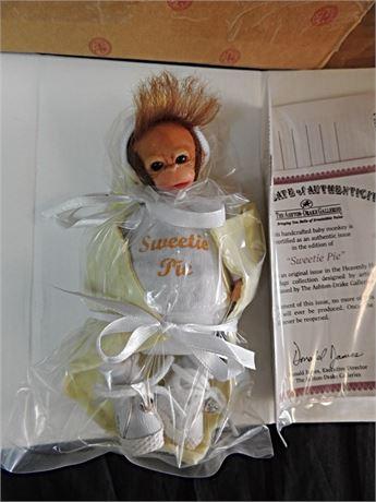 "Ashton Drake Sweetie Pie 6"" Baby Monkey Doll by Darlene Austin MIB"