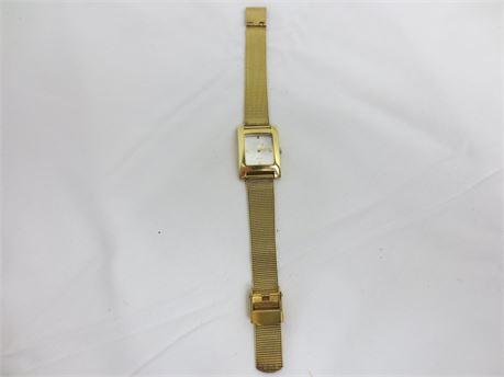 German Made Skagen Gold Tone Steel Watch