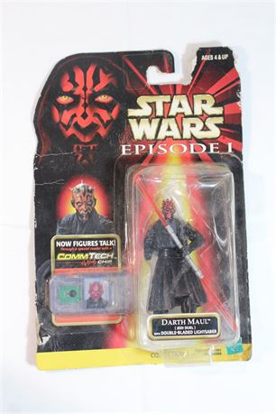 1998 Hasbro Star Wars Darth Maul Action Figure Episode 1 Commtech Chip