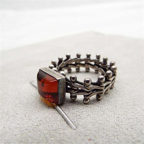 Sz.11 // 8.2 Grams Unique Flexible Amber Ring