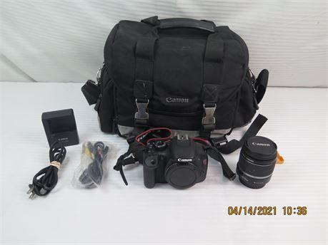 Canon EOS Rebel T2i 18.0MP DSLR Camera Body; Canon EF-S 18-55mm 3.5-5.6 IS Lens
