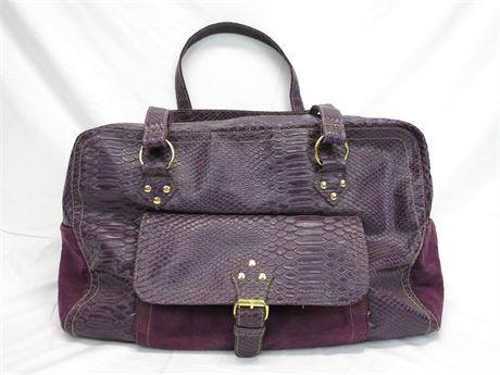 Vintage Elizabeth Arden Purple Bag Snake Faux Leather