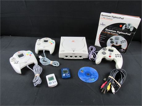 Sega Dreamcast Console Bundle Including Accessories