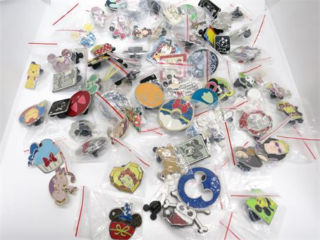Lot of 71 Disney & Other Characters Pins