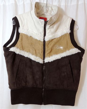 Vintage NFL for Her Seattle Seahawks Warm Lined Vest Size Medium (579)