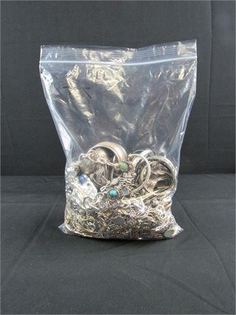 7.5 lbs of Scrap Costume Jewelry M40  (650)