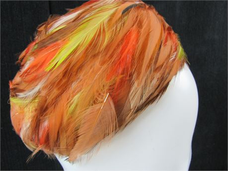 Vintage Noreen Fashion Pheasant Feather Hat  (650)