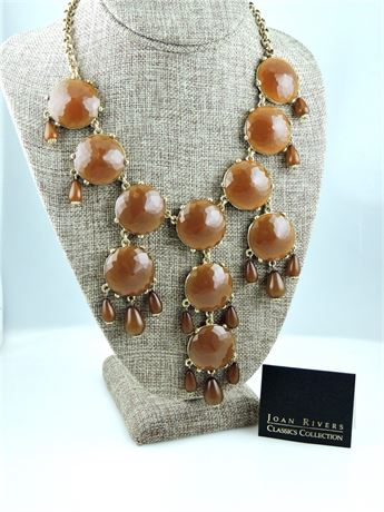 Joan Rivers Classics Collection Colorful Play Bib Necklace - Cocoa - IOB (579-J)