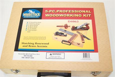 Woodstock International Inc. 5 Pc Professional Woodworking Kit & Case