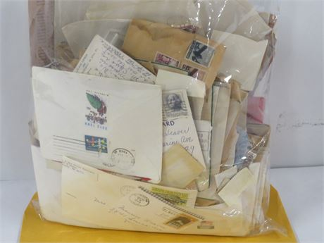 Lot of Assorted Vintage Stamps, Letters, and Postcards (230-LV18WW)