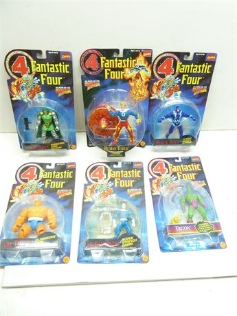 6 Vintage (1995), Assorted ,Fantastic Four Figures, NIB