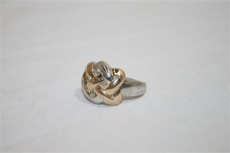Solid Sterling Silver Ring, Size 7, 5.60 Grams
