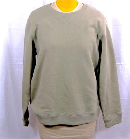NWT REI Wallace Lake Graphic Fleece Sweatshirt Men's Large - Willow Green