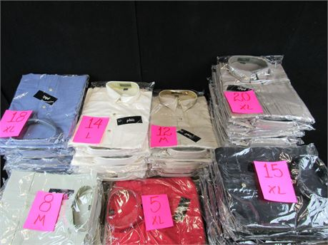 Phiz Button Down Shirts - Various Colors and Sizes - Lot of 92 (650)