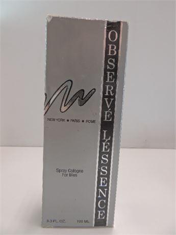 Observe Lessence Spray Cologne For Men 3.3fl.Ounces NIB