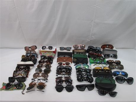 Lot of Eyewear Various Brands And Designer Unisex 46 Count