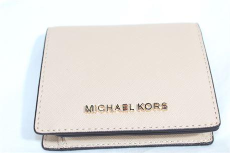 Michael Kors Cream Leather Wallet