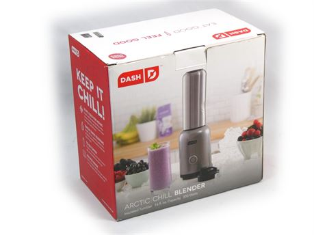 Dash Arctic Chill Blender The Compact Personal Blender w/Insulated Stainless NEW