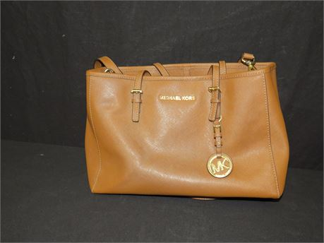 Michael Kors Brown Leather Purse