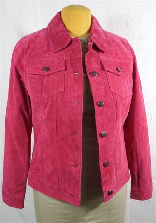 Twiggy London Fuschia Pink Suede Jacket - Women's Size Medium