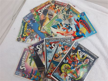Lot of 11 DC Superman Comics