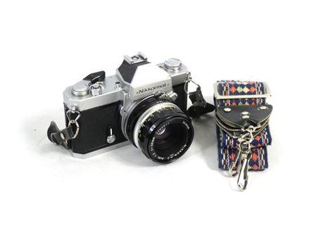 Nikon Nikkormat FT2 35mm Film Camera w/Nikkor-HC Auto 50mm f2 Lens