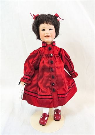 """2001 Lawton PERFECTLY PATTY 9"""" Doll JTD Wood Body #50/250 Merely Me Collection"""