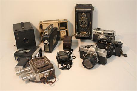 Vintage Camera Lot *for parts, decor, repair* (500)